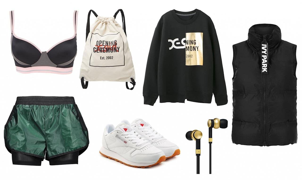 <p>If you're the type who prefers to jog around the city or park during the cool evenings, keep warm with an insulated vest from Ivy Park and reflective apparel like this sweater from Opening Ceremony and shorts by Koral. And most importantly, keep your music jams going strong through the night with earphones by Master & Dynamic. You'll be the coolest kid on the block. </p>