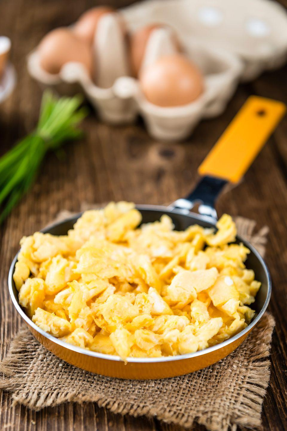 "<p>Scrambled eggs are a nutritional powerhouse, and now you have the secret to cooking them to creamy perfection.</p><p><a href=""https://www.womansday.com/food-recipes/food-drinks/recipes/a12866/basic-scrambled-eggs-recipe-wdy0514/"" rel=""nofollow noopener"" target=""_blank"" data-ylk=""slk:Get the Easy Scrambled Eggs recipe."" class=""link rapid-noclick-resp""><em>Get the Easy Scrambled Eggs recipe.</em></a></p>"