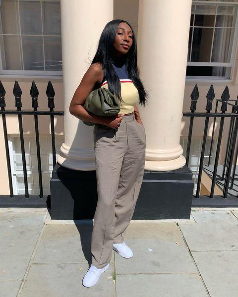 """<p>'Whenever I shop vintage, I look for the investment pieces, such as a classic 2.55 Chanel handbag or a key runway item that might now be really hard to source (think Margiela spring 2000 collection or any early Yohji Yamamoto). </p><p>'If you ever check out vintage dealers or auctions in the US, it's always worth seeing if they have any dresses by James Galanos, too – an under-the-radar designer here, but someone who created couture-style dresses for America's high society. </p><p>'When you're vintage shopping for new looks, keep an eye out for interesting designs that you rarely see today, too, such as a three-button small lapel blazer from the 1960s or 1970s. They are really flattering and have even been reinterpreted by Bottega Veneta, so whenever I see one I snap it up.'</p><p><a href=""""https://www.instagram.com/p/CPgCVjdgsyQ/"""" rel=""""nofollow noopener"""" target=""""_blank"""" data-ylk=""""slk:See the original post on Instagram"""" class=""""link rapid-noclick-resp"""">See the original post on Instagram</a></p>"""