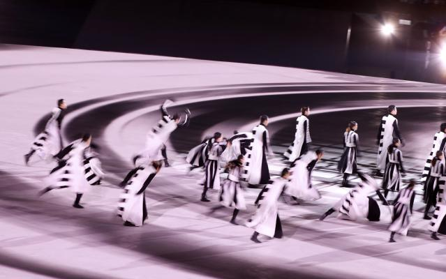 <p>Pyeongchang 2018 Winter Olympics – Closing ceremony – Pyeongchang Olympic Stadium – Pyeongchang, South Korea – February 25, 2018 – Artists perform during the closing ceremony. REUTERS/Issei Kato </p>
