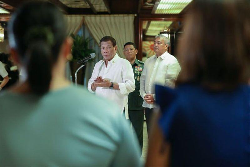 Duterte to work from home, Palace clarifies