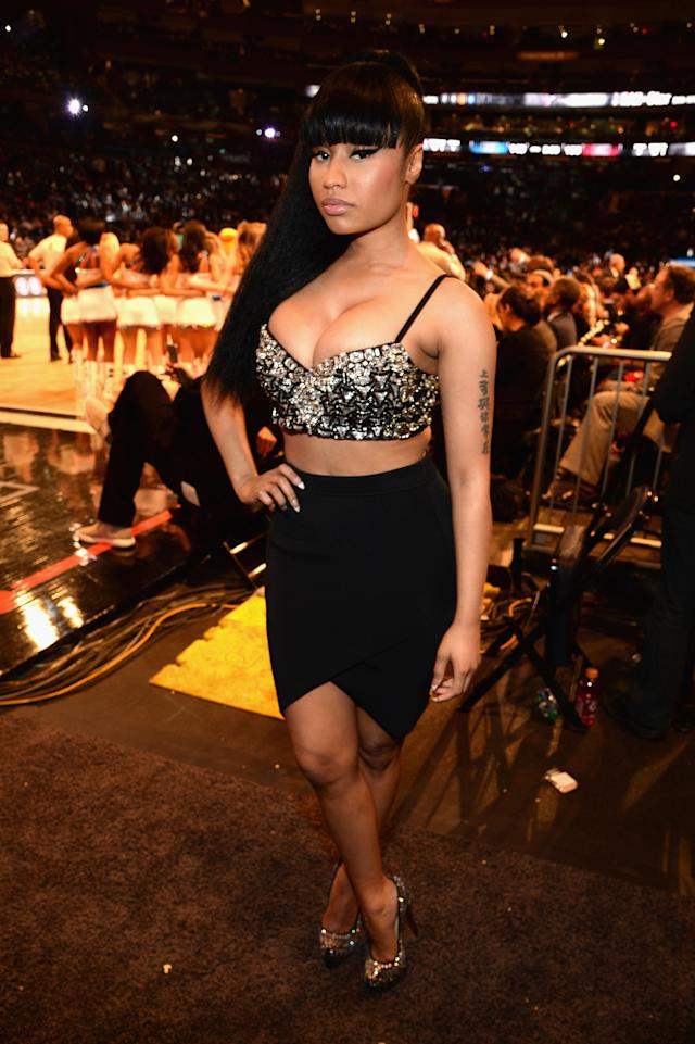 Nicki Minaj attends the 64th NBA All-Star Game 2015 on Feb. 15, 2015, in New York City. (Photo: Kevin Mazur/WireImage)