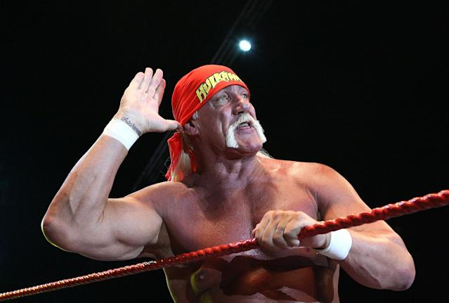 Hulk Hogan, pictured on tour in 2009, has been out of WWE since 2015. (Getty)
