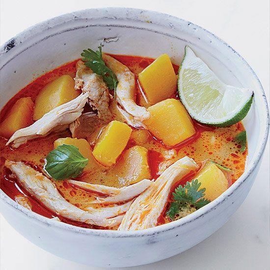 """<p>With fresh lime juice and a healthy dollop of red curry paste, this bright soup is just the thing for recovering from Thursday's overly heavy meal.</p><p><strong><a href=""""https://www.countryliving.com/food-drinks/recipes/a34718/turkey-curry-soup-recipe-fw1114/"""" rel=""""nofollow noopener"""" target=""""_blank"""" data-ylk=""""slk:Get the recipe"""" class=""""link rapid-noclick-resp"""">Get the recipe</a>.</strong></p><p><strong><a class=""""link rapid-noclick-resp"""" href=""""https://www.amazon.com/Red-Boat-Premium-Fish-Sauce/dp/B00B617XK2/?tag=syn-yahoo-20&ascsubtag=%5Bartid%7C10050.g.1064%5Bsrc%7Cyahoo-us"""" rel=""""nofollow noopener"""" target=""""_blank"""" data-ylk=""""slk:SHOP FISH SAUCE"""">SHOP FISH SAUCE</a><br></strong></p>"""
