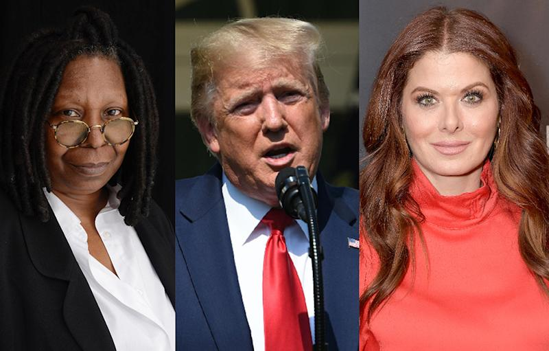 Whoopi Goldberg, Donald Trump, Debra Messing