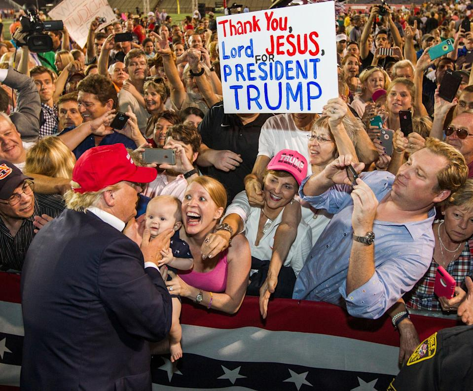 Is the secret Trump voter a real phenomena this time around? (Getty Images)