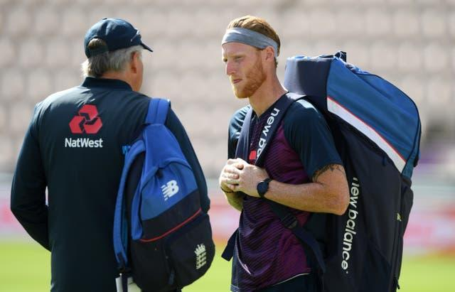 Ben Stokes, right, and coach Chris Silverwood will lead a new-look England against Pakistan
