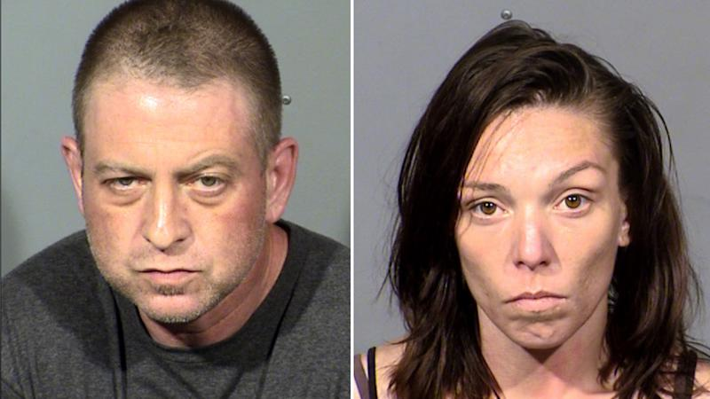 Christopher Prestipino, (left) and Lisa Mort (right) in their mug shots for the murder of Esmeralda Gonzalez