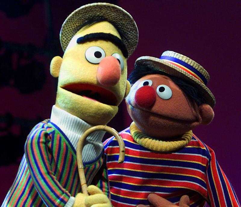 """Muppets Bert and Ernie from """"Sesame Street"""" in an Aug. 22, 2001 file photo."""