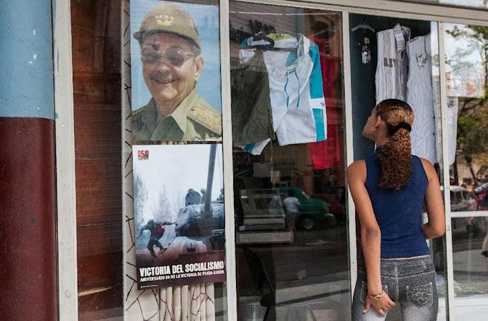 In one year on February 24, 2018 Raul Castro, pictured in poster in February 2017, will leave Cuban presidency starting a new period without a Castro leading the country (AFP Photo/YAMIL LAGE)