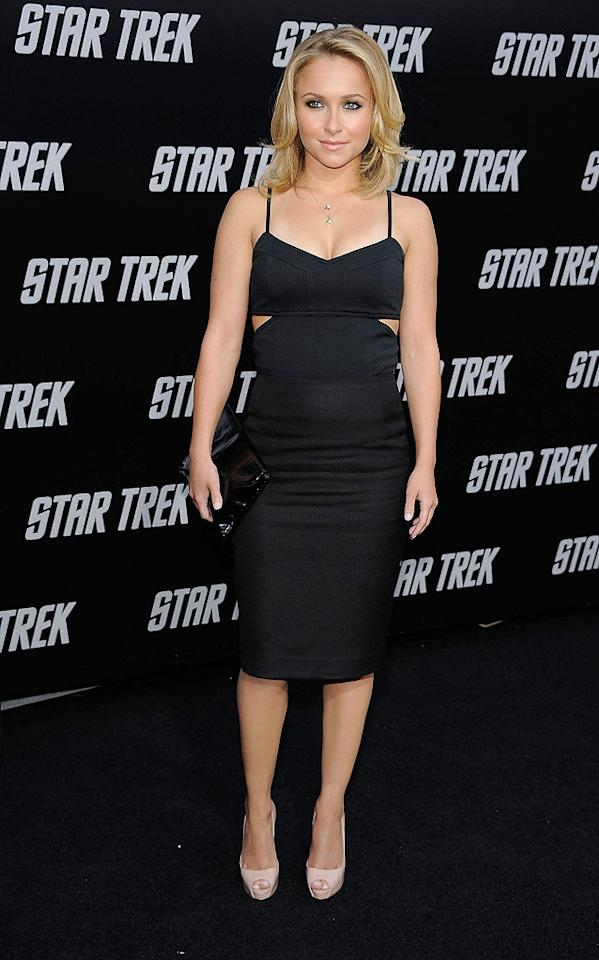 "<a href=""http://movies.yahoo.com/movie/contributor/1800019797"">Hayden Panettiere</a> at the Los Angeles premiere of <a href=""http://movies.yahoo.com/movie/1809752801/info"">Star Trek</a> - 04/30/2009"