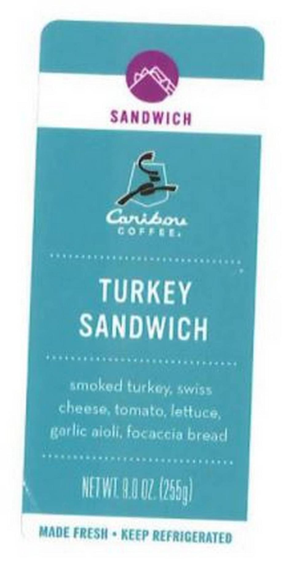 Caribou Turkey Sandwich label