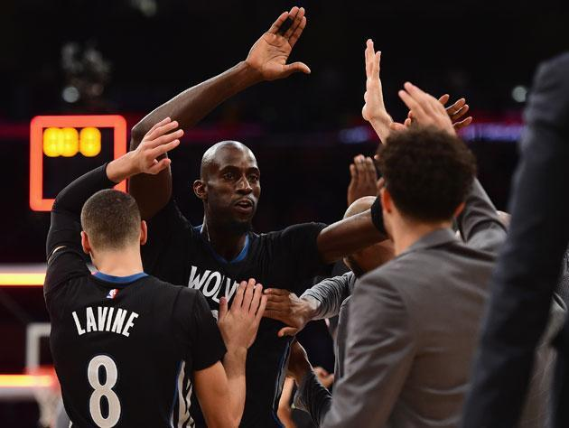 Kevin Garnett, during the last year. (Getty Images