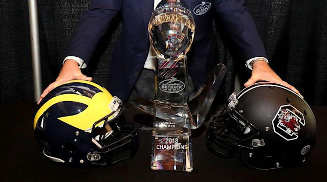 Outback Bowl competition got started ahead of schedule on Wednesday.