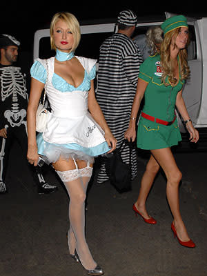 When <b>Paris Hilton</b> and sister <b>Nicky</b> hit the pre-Halloween party circuit in 2007, they kept things short and sexy. The sisters stopped by the Playboy Mansion and Hollywood hot spot Winstons, and ended the night at a private house party that lasted way past the witching hour.