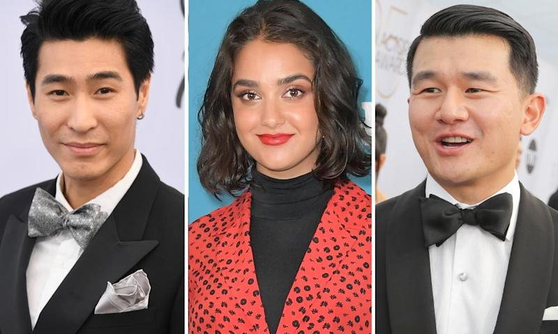 Chris Pang, Geraldine Viswanathan and Ronny Chieng