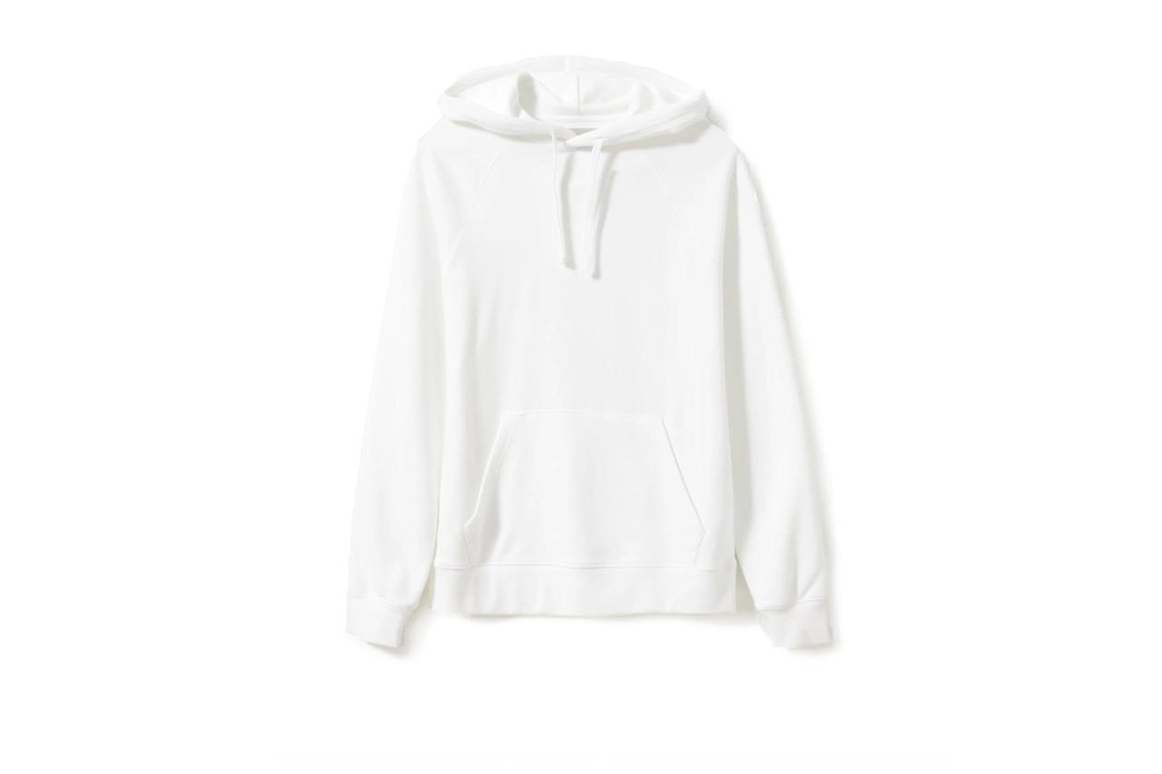"$55, Everlane. <a href=""https://www.everlane.com/products/mens-ltwt-french-terry-hoodie-white?collection=mens-sale"">Get it now!</a>"
