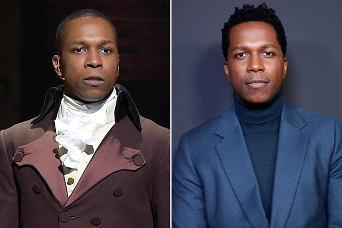 """<p>Odom's breakout role as Aaron Burr led to starring alongside Cynthia Erivo in the Harriet Tubman biopic <em>Harriet</em> (2019), portraying Sam Cooke in Regina King's <em>One Night in Miami</em> (2020) and playing Owen Tillerman in the TV series <em>Central Park</em> (2020-2021). He also dropped his third studio album <em>Mr</em> in 2019, released a book called <em>Failing Up</em> in 2018 and won a Tony for best actor in a musical for his role as Burr in <em>Hamilton</em>.</p> <p>Fans can catch him next in <em>The Many Saints of Newark</em> as Harold McBrayer and watch as <a href=""""https://www.instagram.com/p/CTxaAi6L-nw/"""" rel=""""nofollow noopener"""" target=""""_blank"""" data-ylk=""""slk:he hosts the upcoming Tony Awards"""" class=""""link rapid-noclick-resp"""">he hosts the upcoming Tony Awards</a> on Sunday, Sept. 26 at 9/8c on CBS and Paramount+. <a href=""""https://people.com/parents/leslie-odom-jr-wife-nicolette-robinson-welcome-son/"""" rel=""""nofollow noopener"""" target=""""_blank"""" data-ylk=""""slk:He has two children"""" class=""""link rapid-noclick-resp"""">He has two children</a> with wife Nicolette Robinson.</p>"""