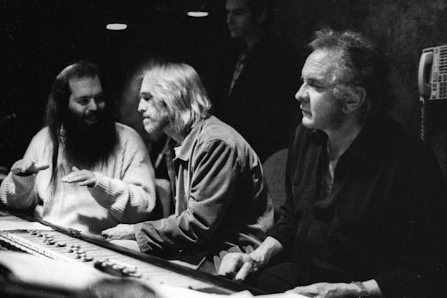 <p>From left: Rick Rubin, Tom Petty, and Johnny Cash during a recording for Johnny Cash's <i>Unchained</i> at Sound City Studios in Van Nuys, Calif., Jan. 26, 1996. (Photo: Kevin Estrada/AP) </p>