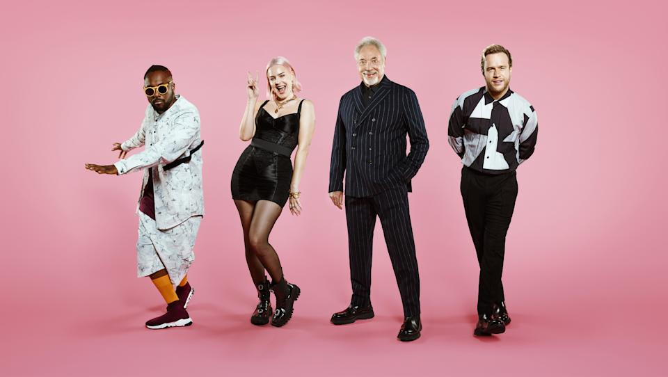 The Voice UK judges will.i.am, Anne-Marie, Sir Tom Jones and Olly Murs (ITV)