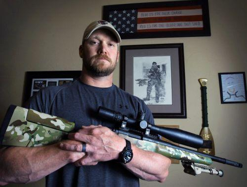 """FILE - In this April 6, 2012 file photo, Chris Kyle, a former Navy SEAL and author of the book """"American Sniper,"""" poses in Midlothian, Texas. Jury selection begins Monday, Feb. 9, 2015, for the upcoming trial of former Marine Eddie Ray Routh, who is charged with capital murder in the shooting deaths of Kyle and Kyle's friend, Chad Littlefield. (AP Photo/The Fort Worth Star-Telegram, Paul Moseley, File)"""