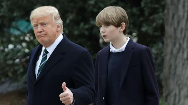 President Donald Trump's son is known to be a fan of the sport, but he took it a step further by joining up with D.C. United's Under-12 team.