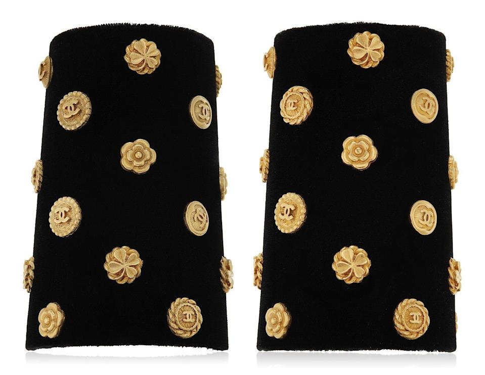 <p>This edgy yet elegant set of cuffs is estimated to be worth $1,500 to $2,000.</p>