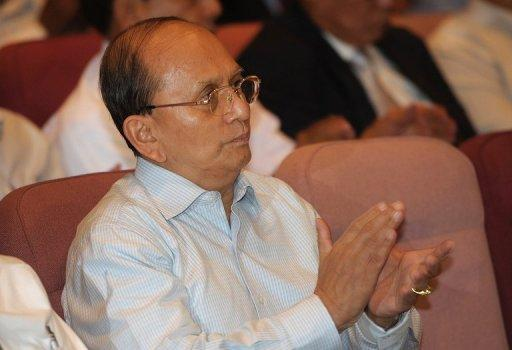 Myanmar President Thein Sein is pictured in July