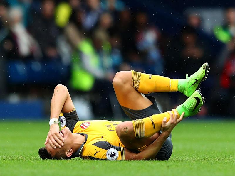 Alexis Sanchez was subjected to a physical onslaught all afternoon by West Brom