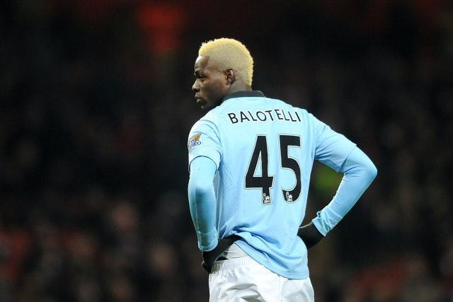 Mario Balotelli scored the winner for Manchester City against Tottenham after escaping a red card