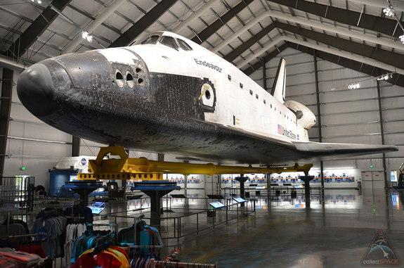 "Guests can walk around and under space shuttle Endeavour in its home at the California Science Center. <a href=""http://www.collectspace.com/news/news-103112b.html"">Click here to view a photo gallery</a>."