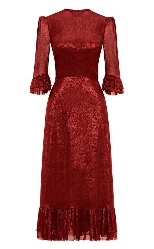 """<p><a class=""""link rapid-noclick-resp"""" href=""""https://thevampireswife.com/collections/shop/products/the-falconetti-red-metallic-dress"""" rel=""""nofollow noopener"""" target=""""_blank"""" data-ylk=""""slk:SHOP NOW"""">SHOP NOW</a></p>"""