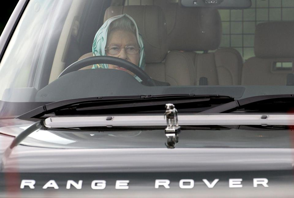 <p>The queen proves that she's not too important to drive herself, as she peers above the steering wheel during the Windsor Horse Show. But, dare we suggest raising the seat a bit?</p>