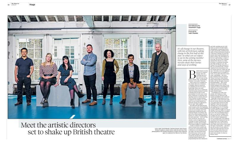 The Observer's original interview with the artistic directors, 23 June 2019.