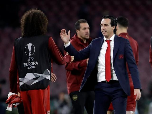 Napoli vs Arsenal: Unai Emery 'very proud' of Gunners players after sealing Europa League semi-final spot