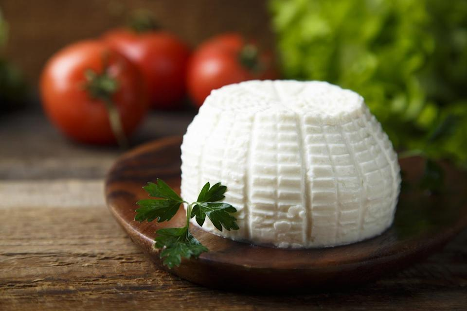 "<p>Fresh ricotta has a salty yet light and elegant flavor, which adds a delicate fluffiness to eggs. You can also get really creative and make an <a href=""https://www.thedailymeal.com/cook/egg-bake-recipe?referrer=yahoo&category=beauty_food&include_utm=1&utm_medium=referral&utm_source=yahoo&utm_campaign=feed"" rel=""nofollow noopener"" target=""_blank"" data-ylk=""slk:egg bake"" class=""link rapid-noclick-resp"">egg bake</a> with ricotta cheese and marinara sauce. </p>"