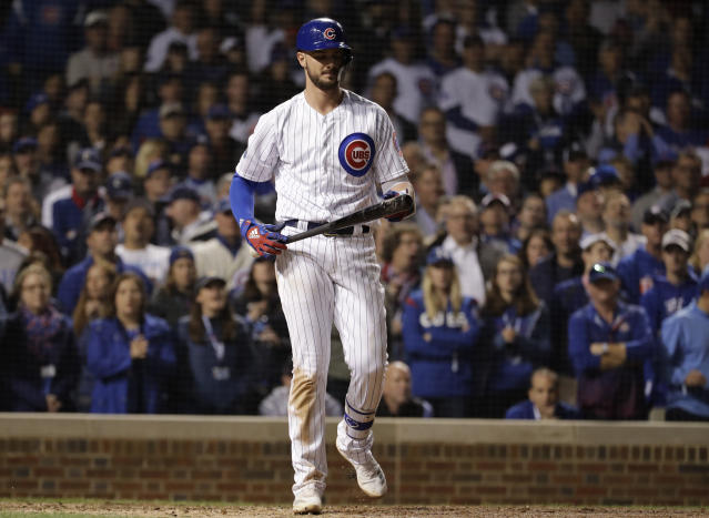 The Cubs will reportedly listen to offers for Kris Bryant, but it seems doubtful he'll get moved. (AP Photo)