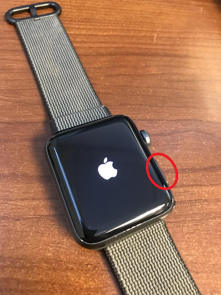 Apple Watch turning on