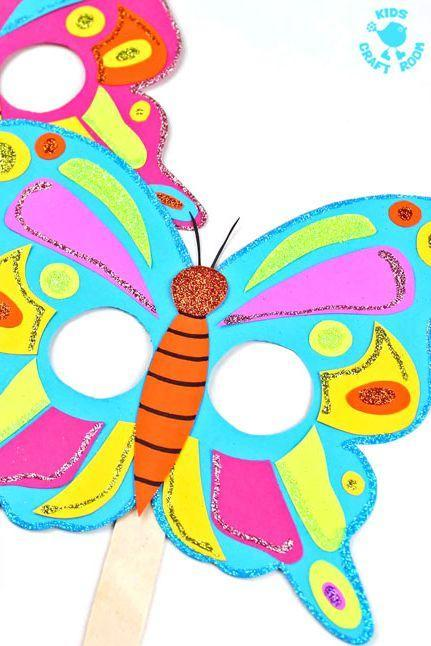 """<p>Thanks to this blogger's free printable, this butterfly mask can be made in just a few minutes. After you assemble the paper and popsicle stick, make it pop with glitter, stickers, and other add-ons.</p><p><strong>Get the tutorial at <a href=""""https://kidscraftroom.com/colourful-butterfly-masks/"""" rel=""""nofollow noopener"""" target=""""_blank"""" data-ylk=""""slk:Kids Craft Room"""" class=""""link rapid-noclick-resp"""">Kids Craft Room</a>.</strong></p><p><a class=""""link rapid-noclick-resp"""" href=""""https://www.amazon.com/Card-Stock-Colorful-Assortment-101199/dp/B0006HXSU6/?tag=syn-yahoo-20&ascsubtag=%5Bartid%7C10050.g.3480%5Bsrc%7Cyahoo-us"""" rel=""""nofollow noopener"""" target=""""_blank"""" data-ylk=""""slk:SHOP CARD STOCK PAPER"""">SHOP CARD STOCK PAPER</a> </p>"""