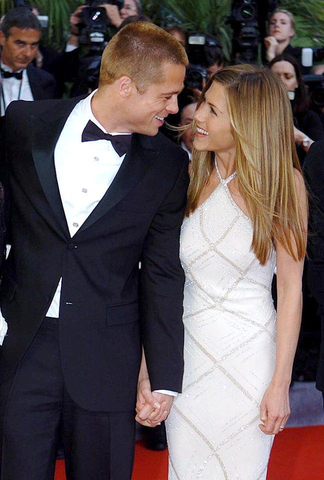 "Whoa, were Jennifer Aniston and Brad Pitt recently caught kissing? <i>In Touch</i> claims in its cover story that the ex-spouses have been having secret hook-ups behind Angelina Jolie's back! Read what <a href=""http://www.gossipcop.com/brad-pitt-jennifer-aniston-hook-up/"">Gossip Cop</a> found out about this rumored revived romance. Alan Davidson/<a href=""http://www.wireimage.com"" target=""new"">WireImage.com</a> - May 13, 2004"