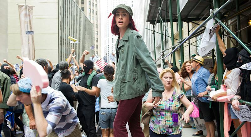 Lily Collins as Red in 'OKJA' (Barry Wetcher / Netflix)