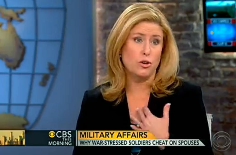 """This still frame made from video provided by CBS """"This Morning"""" on Tuesday, Nov. 20, 2012, shows Rebecca Sinclair, wife of Brig. Gen. Jeffrey Sinclair, during an interview with the television show. As Brig. Gen. Jeffrey Sinclair faces a string of sexual misconduct charges involving female officers, Rebecca Sinclair is seeking to stir a broader look at often taboo subjects in military marriages: adultery, the strain of separation and the stress of war. (AP Photo/CBS """"This Morning"""") MANDATORY CREDIT"""