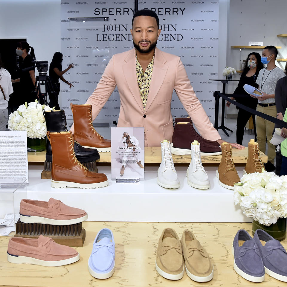 LOS ANGELES, CALIFORNIA – SEPTEMBER 20: John Legend attends the Sperry x John Legend Collection Launch at Nordstrom at the Grove on September 20, 2021 in Los Angeles, California. (Photo by Stefanie Keenan/Getty Images for Sperry) - Credit: Getty Images for Sperry