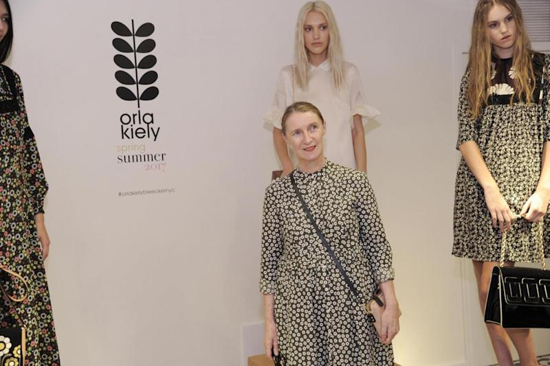 Designer Orla Kiely at New York Fashion Week in September 2016 (Getty Images)