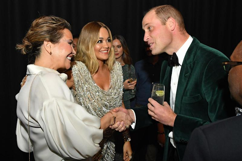 Prince William meets Rita Ora (centre left) as he marks the Centrepoint's 50 years of tackling youth homelessness: Getty Images