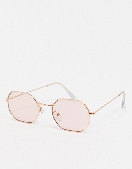 """<p><strong>Asos DESIGN</strong></p><p>us.asos.com</p><p><strong>$6.65</strong></p><p><a href=""""https://go.redirectingat.com?id=74968X1596630&url=https%3A%2F%2Fwww.asos.com%2Fus%2Fasos-design%2Fasos-design-metal-hexagon-shaped-sunglasses-in-rose-gold-with-pink-lens%2Fprd%2F14397988&sref=https%3A%2F%2Fwww.seventeen.com%2Flove%2Fg25616382%2Fgalentines-day-gift-ideas%2F"""" rel=""""nofollow noopener"""" target=""""_blank"""" data-ylk=""""slk:Shop Now"""" class=""""link rapid-noclick-resp"""">Shop Now</a></p><p>Friends help friends up their selfie game with cool shades. </p>"""