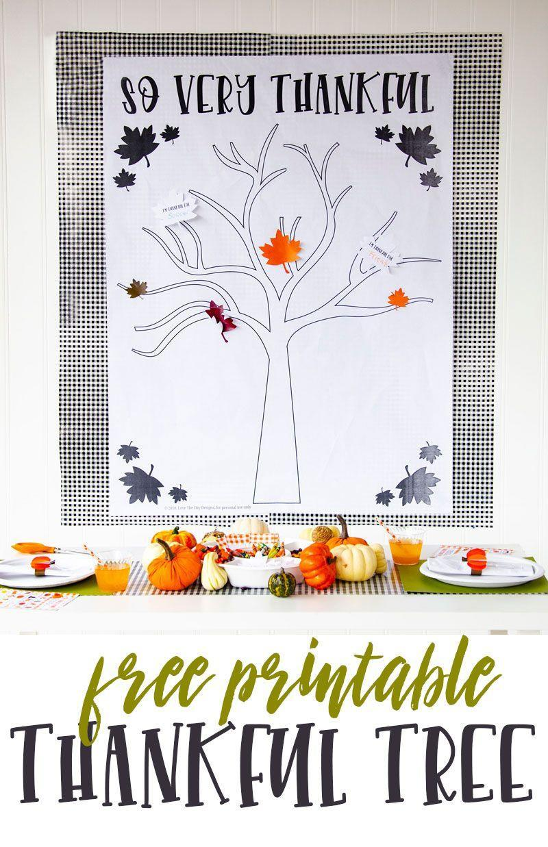 "<p>Looking to add a festive touch to your Thanksgiving dinner party? This thankful tree poster is the perfect wall decoration to display above your <a href=""https://www.goodhousekeeping.com/holidays/thanksgiving-ideas/g143/bold-thanksgiving-place-settings/"" rel=""nofollow noopener"" target=""_blank"" data-ylk=""slk:Thanksgiving table"" class=""link rapid-noclick-resp"">Thanksgiving table</a> (the kids will love it, too!), and even comes with colorful fall leaves that you can easily tape onto the poster. <br></p><p><em><a href=""https://love-the-day.com/thankful-tree-craft"" rel=""nofollow noopener"" target=""_blank"" data-ylk=""slk:Get the tutorial at Love The Day »"" class=""link rapid-noclick-resp"">Get the tutorial at Love The Day »</a></em> </p>"