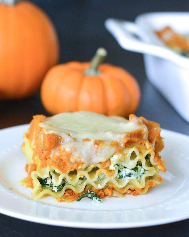 """<p>Lasagna just got a whole lot cooler with this rich and cheesy combination of pumpkin, parmesan, mozzarella, ricotta, and spinach. Can you say layers of perfection? </p><p><strong>Get the recipe at <a href=""""http://jessfuel.com/2015/11/15/pumpkin-and-spinach-lasagna-rolls/"""" rel=""""nofollow noopener"""" target=""""_blank"""" data-ylk=""""slk:Jess Fuel"""" class=""""link rapid-noclick-resp"""">Jess Fuel</a>.</strong></p>"""