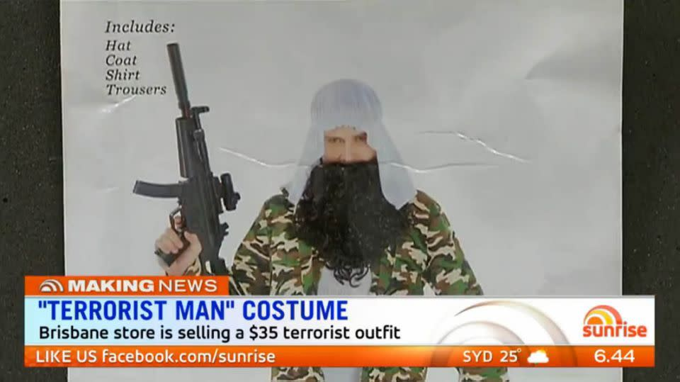 The costume retailed for $35 but has been removed from shelves.