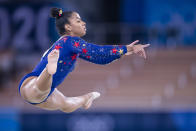 <p>Most elite gymnasts begin gymnastics as toddlers, but Jordan didn't discover the sport until she was seven years old. This may seem young but in the world of elite gymnasts this is pretty late. (Photo by Tom Weller/DeFodi Images via Getty Images)</p>